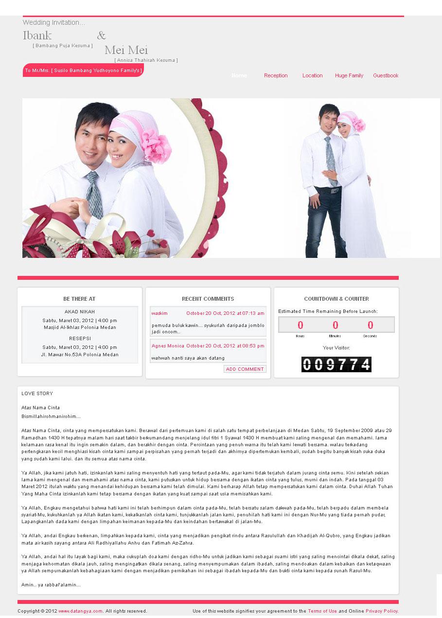 tampilan web undangan