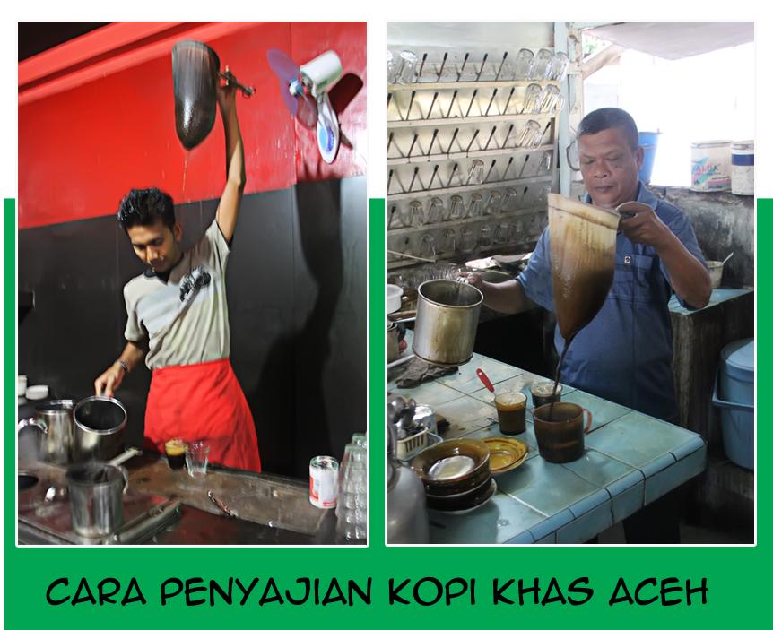 cara penyajian kopi khas aceh